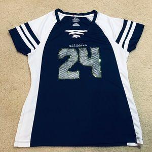 Seahawks women's ladies lace up  24 Marshawn Lynch